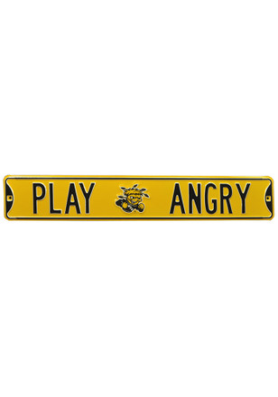 Wichita State Shockers 6x36 Play Angry Street Sign