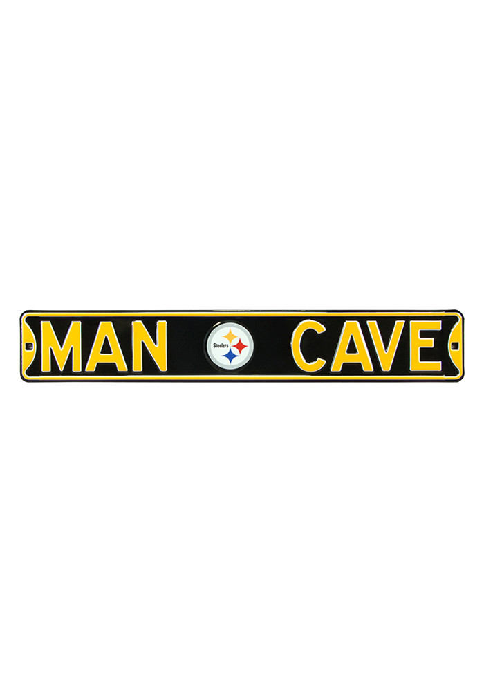 Nfl Man Cave Street Signs : Pittsburgh steelers man cave street sign