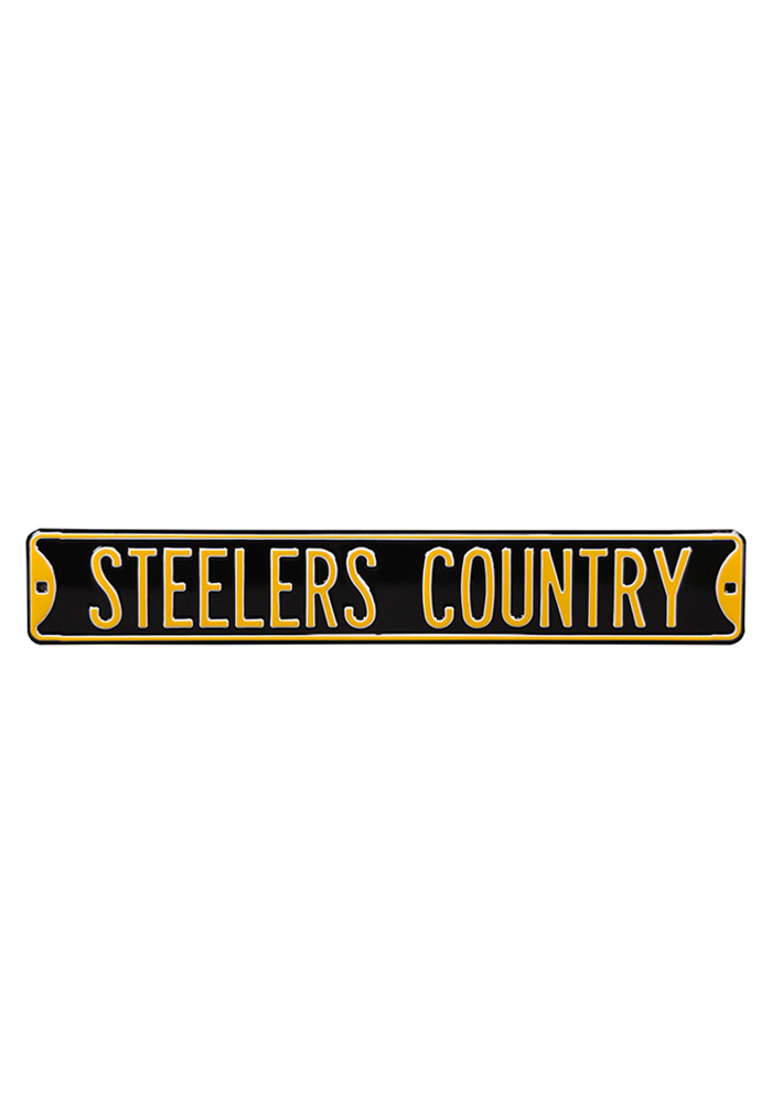 Pittsburgh Steelers 6x36 Steelers Country Street Sign - Image 1