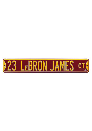 LeBron James Cleveland Cavaliers 6x36 Court Street Sign