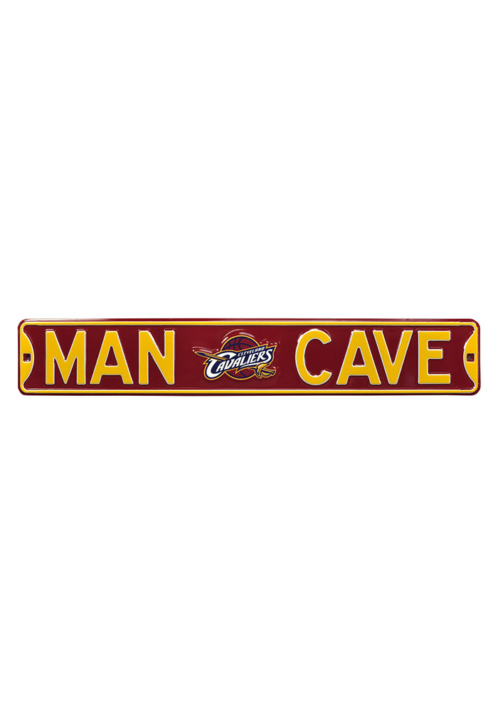 Cleveland Cavaliers 6x36 Man Cave Street Sign - Image 1