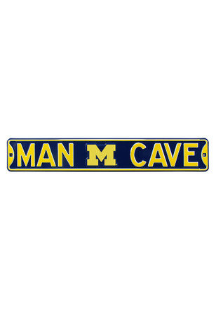 Michigan Wolverines 6x36 Man Cave Street Sign