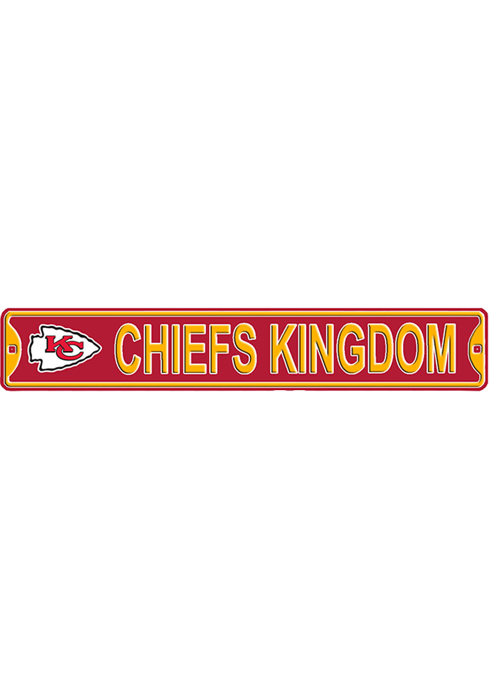 Kansas City Chiefs 6x36 Chiefs Kingdom Street Sign - Image 1