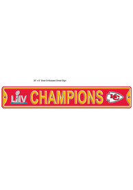 Kansas City Chiefs Super Bowl LIV Champions Logo Street Sign