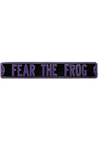 TCU Horned Frogs Fear the Frog Sign