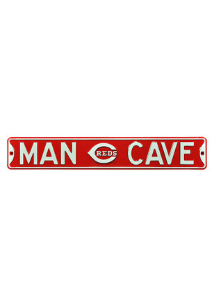 Cincinnati Reds 6x36 Man Cave Street Sign