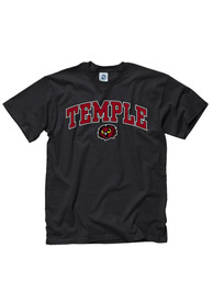 Temple Owls Youth Black Midsize Arch Mascot T-Shirt
