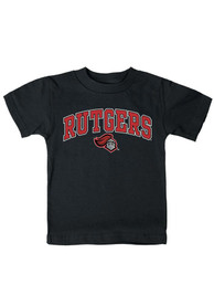 Rutgers Scarlet Knights Infant Arch Mascot T-Shirt - Black