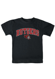 Rutgers Scarlet Knights Toddler Black Arch Mascot T-Shirt