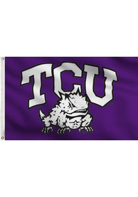 TCU Horned Frogs 3x5 Purple Grommet Purple Silk Screen Grommet Flag