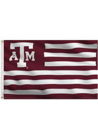 Texas A&M Aggies 3x5 Maroon, White Grommet Maroon Silk Screen Grommet Flag