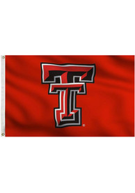 Texas Tech Red Raiders 3x5 Red Grommet Red Silk Screen Grommet Flag