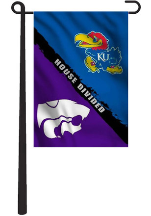 Kansas Jayhawks 11x18 2-Sided HD Silk Screen Garden Flag