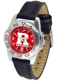 Rutgers Scarlet Knights Womens Sport Leather Watch - Silver
