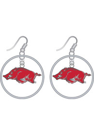 Arkansas Razorbacks Womens Floating Hoop Earrings - Red