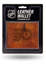 Philadelphia Flyers Manmade Leather Bifold Wallet - Brown