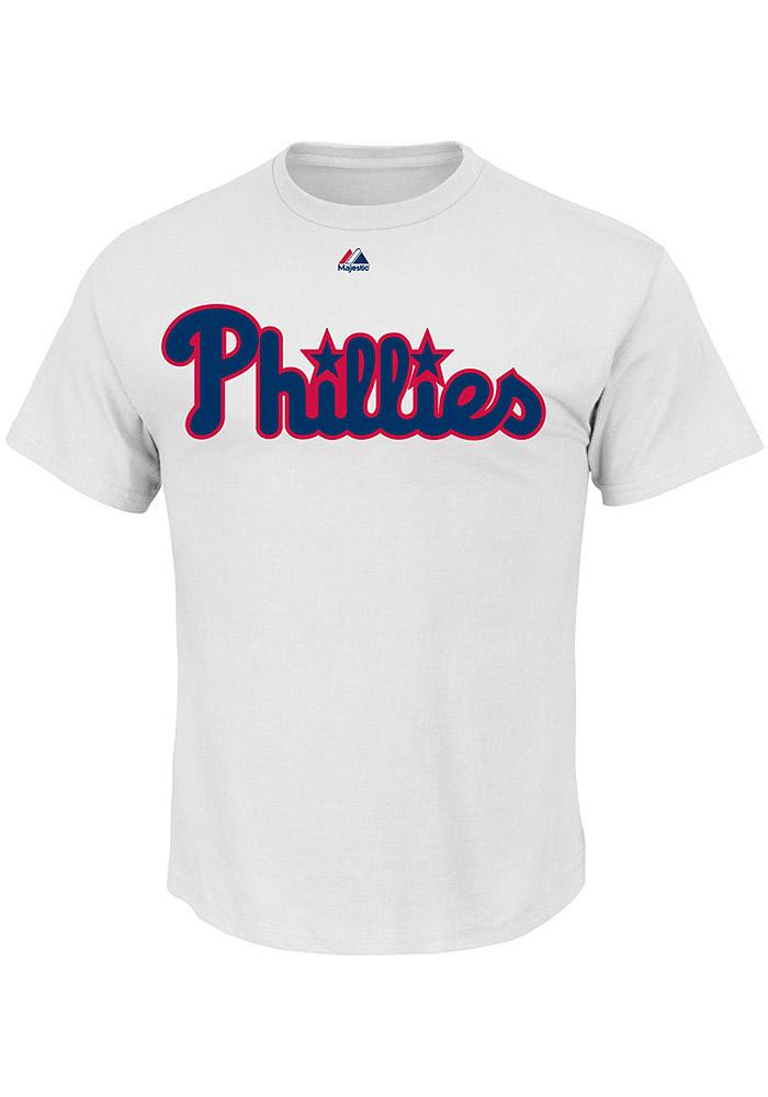 Cliff Lee Philadelphia Phillies Mens White Name And Number Short Sleeve Player T Shirt - Image 2