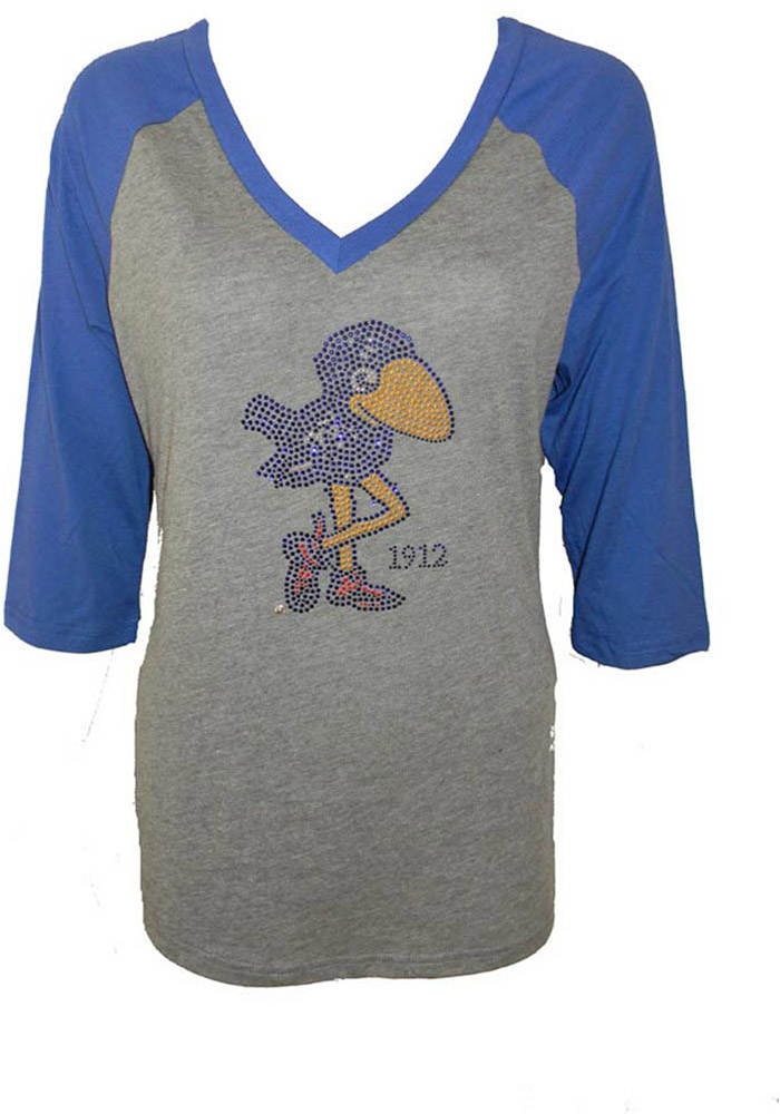 Kansas Jayhawks Juniors Grey 1912 Long Sleeve T-Shirt - Image 1