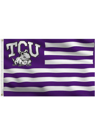TCU Horned Frogs 3x5 Purple, White Purple Silk Screen Grommet Flag