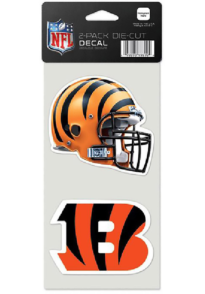 Cincinnati Bengals 2pk Ultra Auto Decal - Orange - Image 1