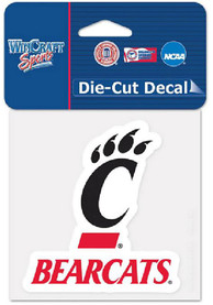 Cincinnati Bearcats 4x4 Die Cut Auto Decal - Black