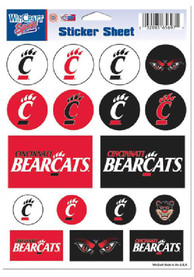 Cincinnati Bearcats 5x7 Souvenir Stickers