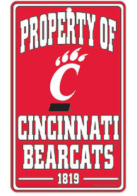 Cincinnati Bearcats Property Of Sign