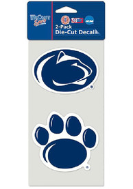 Penn State Nittany Lions 2PK Die Cut Auto Decal - Navy Blue