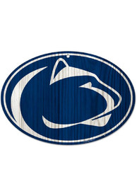 Penn State Nittany Lions Round Wood Sign