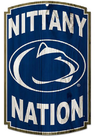 Penn State Nittany Lions 11X17 Nation Sign