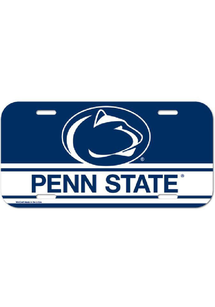 Penn State Nittany Lions Navy Plastic Car Accessory License Plate - Image 1