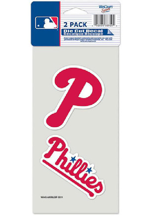 Philadelphia Phillies 2-Pack 4x4 Perfect Cut Decal