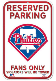 Philadelphia Phillies Reserved Parking Sign