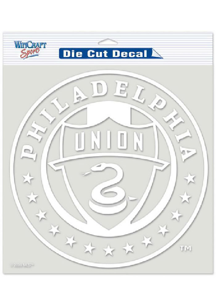 Philadelphia Union 8x8 White Perfect Cut Auto Decal - White