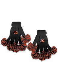 Cincinnati Bengals Womens Spirit Finger Gloves - Black