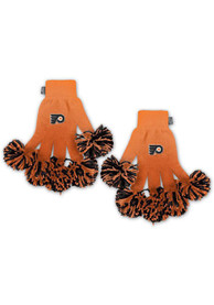 Philadelphia Flyers Womens Spirit Finger Gloves - Black