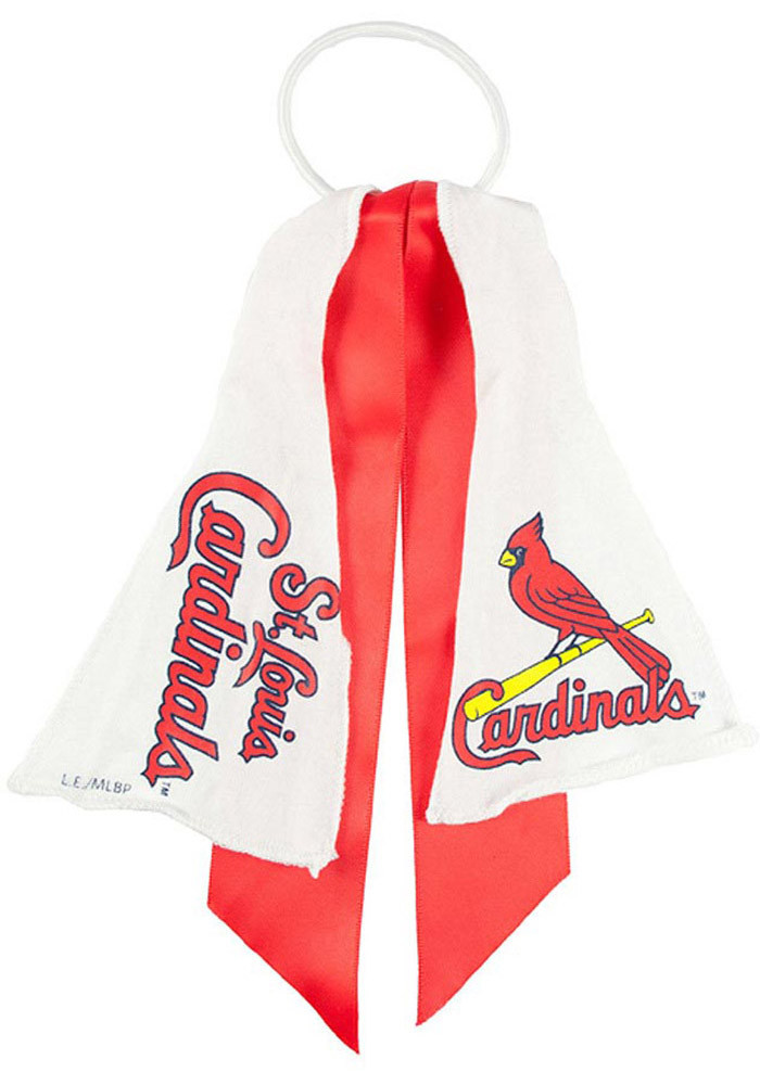 St Louis Cardinals Ponytail Holder Youth Hair Scrunchie - Image 1