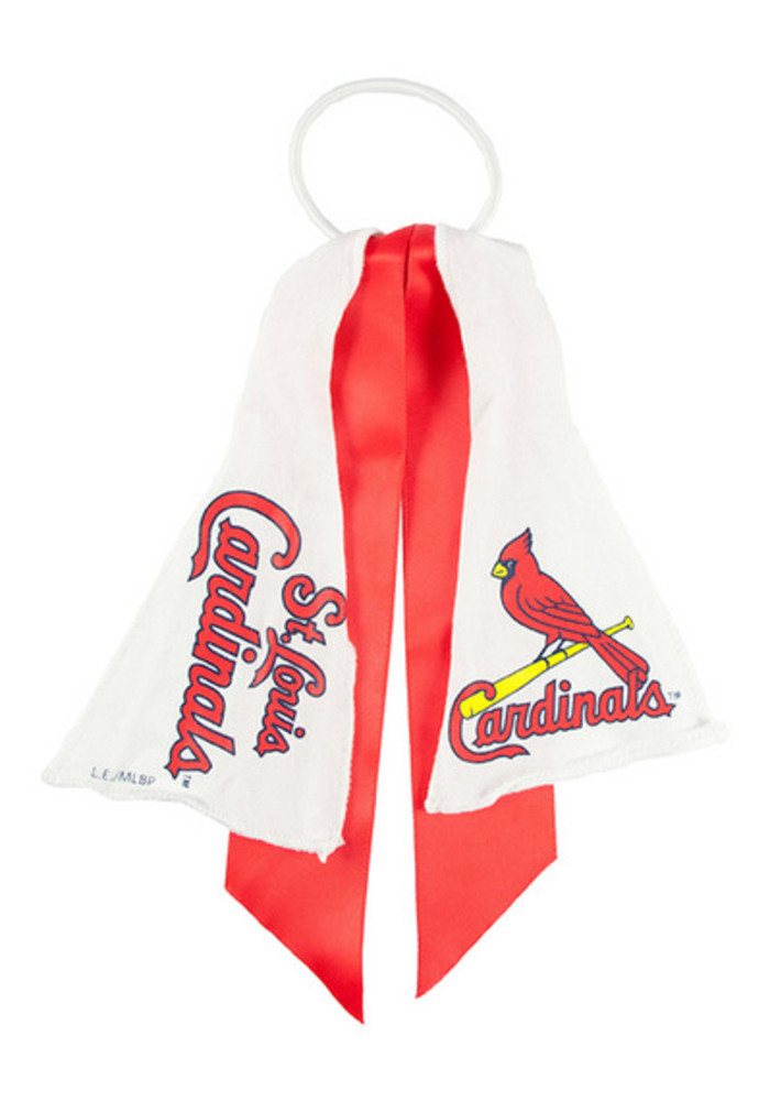 St Louis Cardinals Ponytail Holder Youth Hair Scrunchie - Image 2