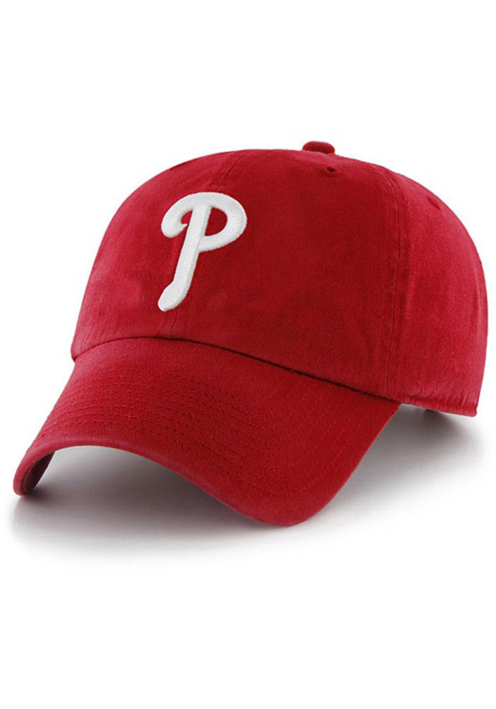 '47 Philadelphia Phillies Mens Red Clean Up Adjustable Hat - Image 1