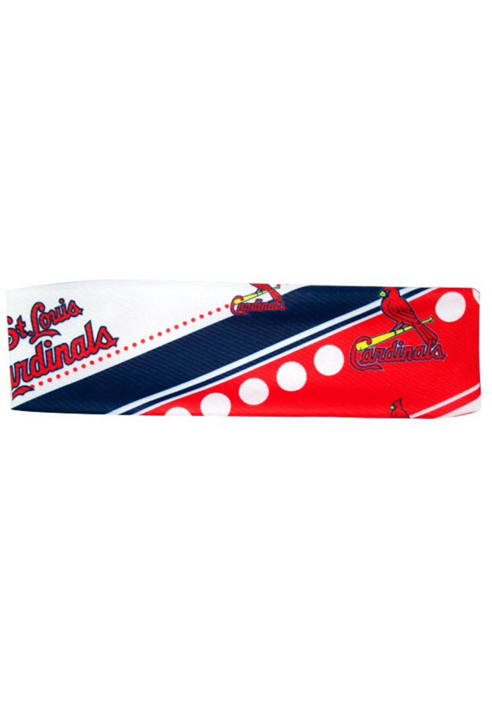St Louis Cardinals Stretch Patterned Womens Headband - Image 1