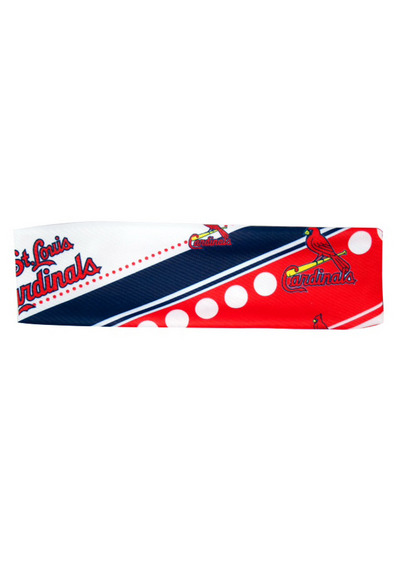 St Louis Cardinals Stretch Patterned Womens Headband - Image 2