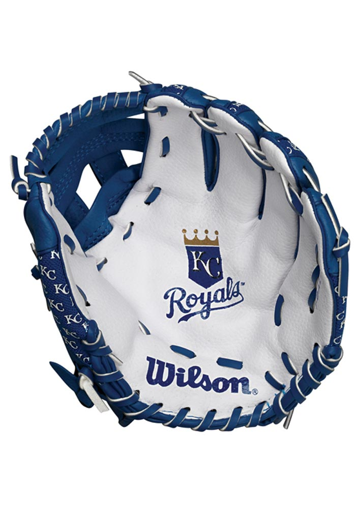Kansas City Royals 10` Youth Balls and Helmets Glove - Image 1