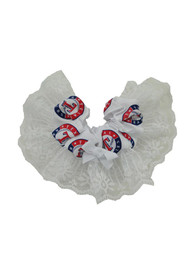 Texas Rangers Womens Red and Blue Garter - White