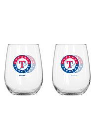Texas Rangers 16Oz Curved Stemless Wine Glass