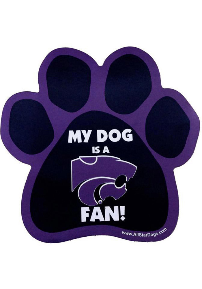 K-State Wildcats Paw Pet Magnet - Image 1