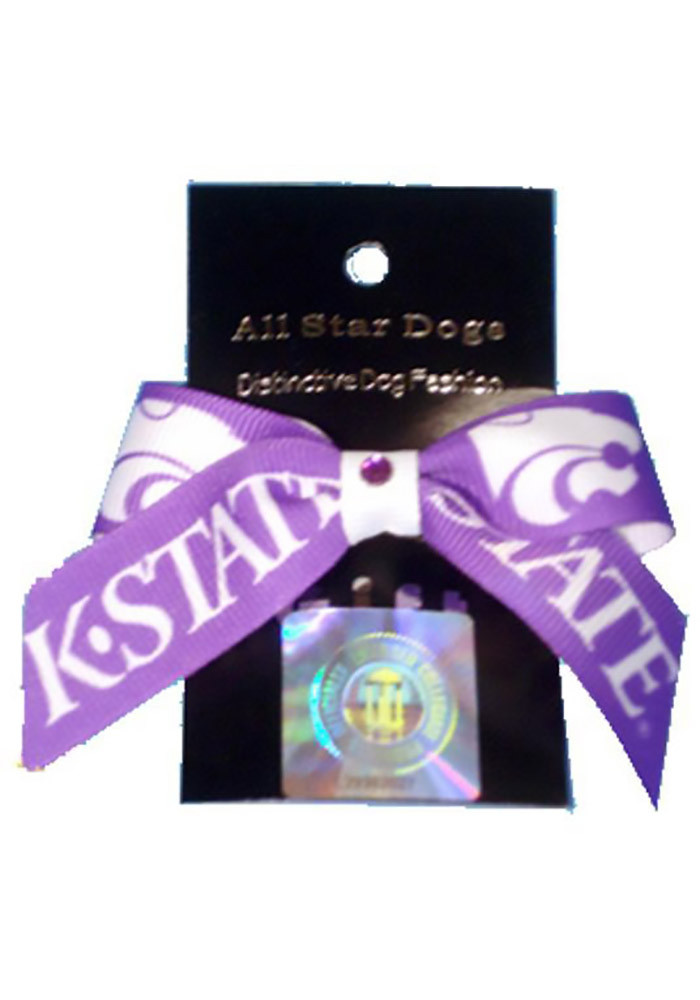 K-State Wildcats Purple Pet Bow - Image 1