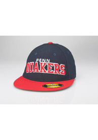 Pennsylvania Quakers Navy Blue Surge Fitted Hat