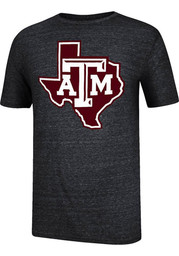 Texas A&M black Mens Trefoil Fashion Tee