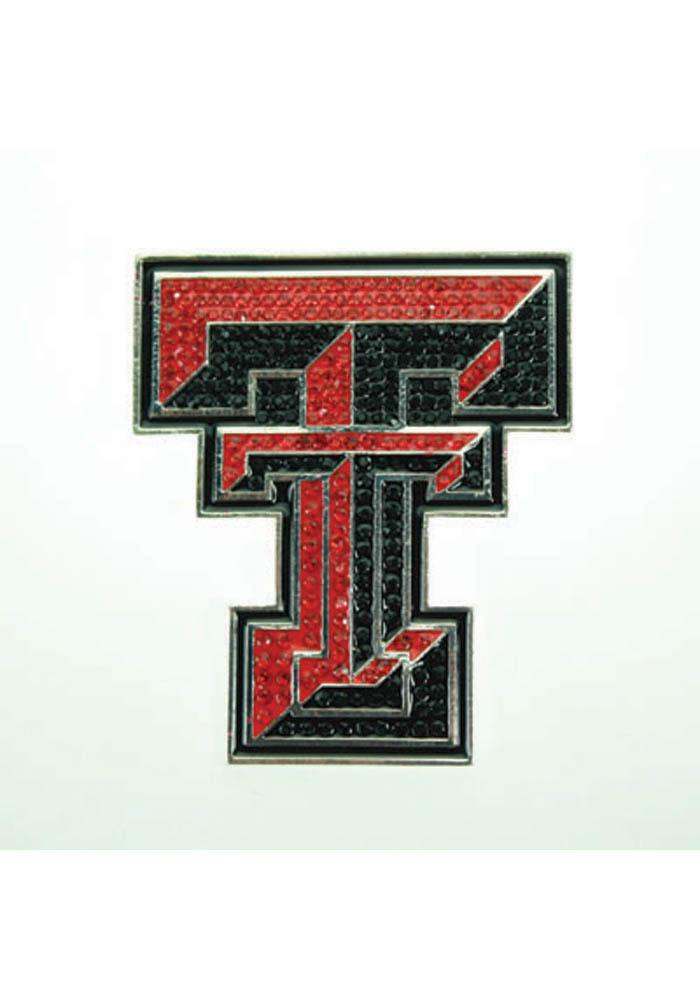 Texas Tech Red Raiders Souvenir Bling Pin - Image 1