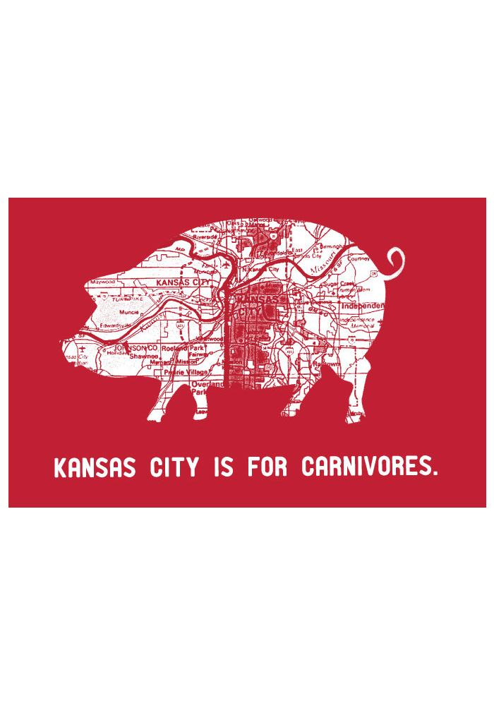 Kansas City KC Is For Carnivores BBQ Apron - Image 2